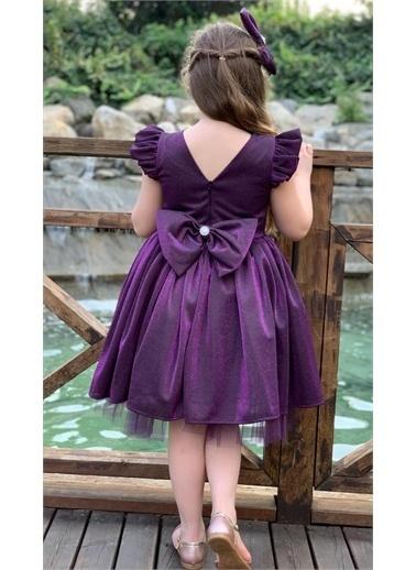 Riccotarz Kız Çocuk Parıldayan Elbise Mor